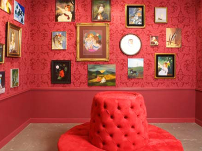 Karen Kilimnik. The Red Room. 2007. Miami Museums