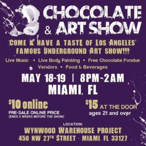 chocolate and art show miami miami art guide