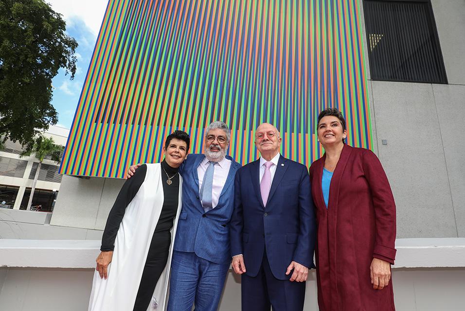 Miami Dade College unveils art installation by Carlos Cruz-Diez